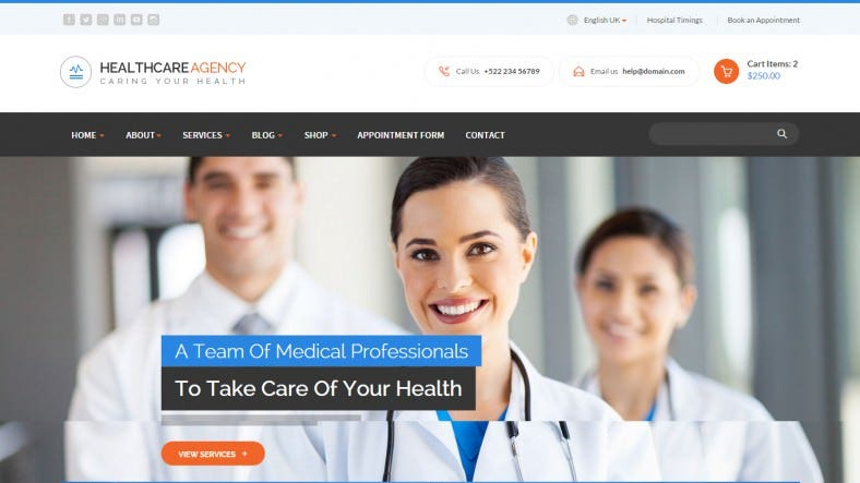 Fully Responsive Health & Medical HTML Website Template