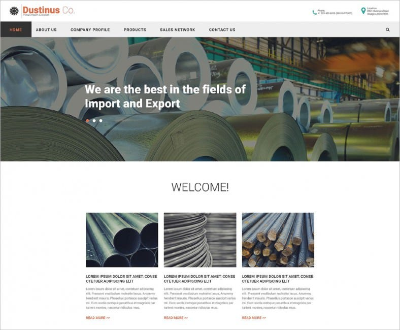 Fully Responsive Industrial HTML5 Website Templates