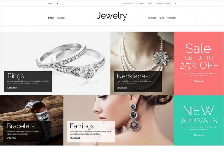 Fully Responsive Jewelry Store VirtueMart Template