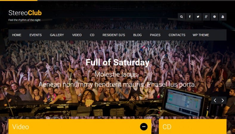 Fully Responsive Night Club HTML Template