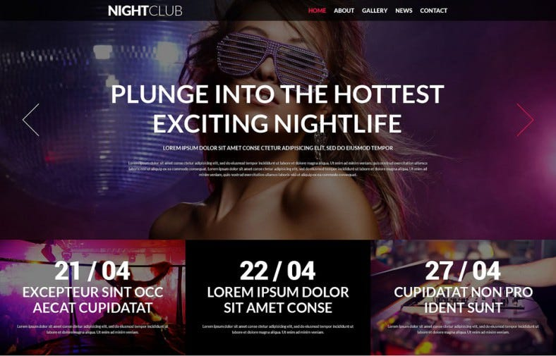 Fully Responsive Nightclub Joomla Template