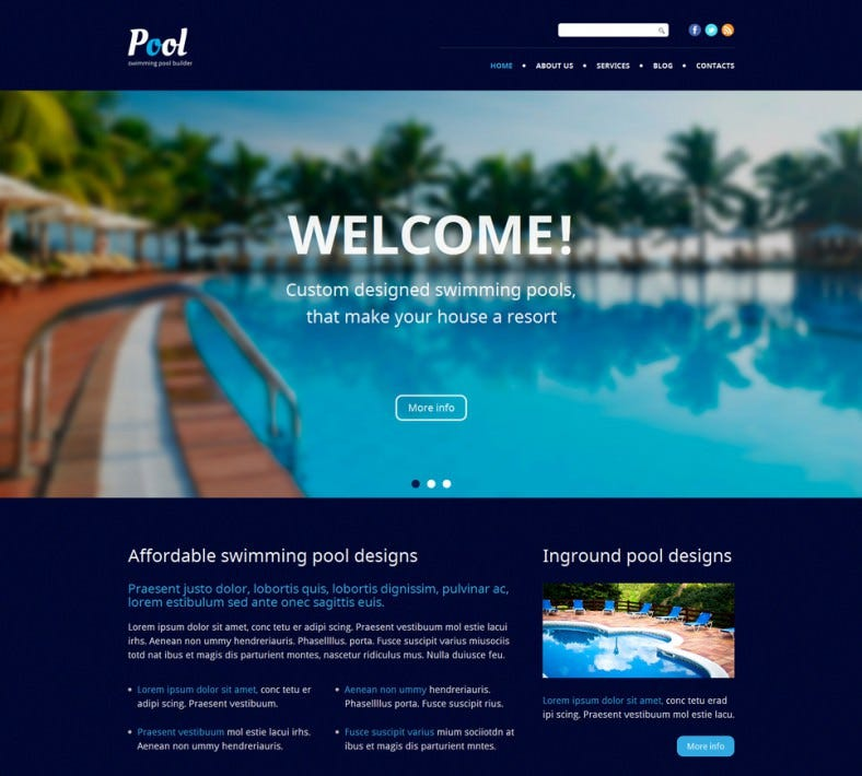 fully responsive pool cleaning wordpress theme 788x710