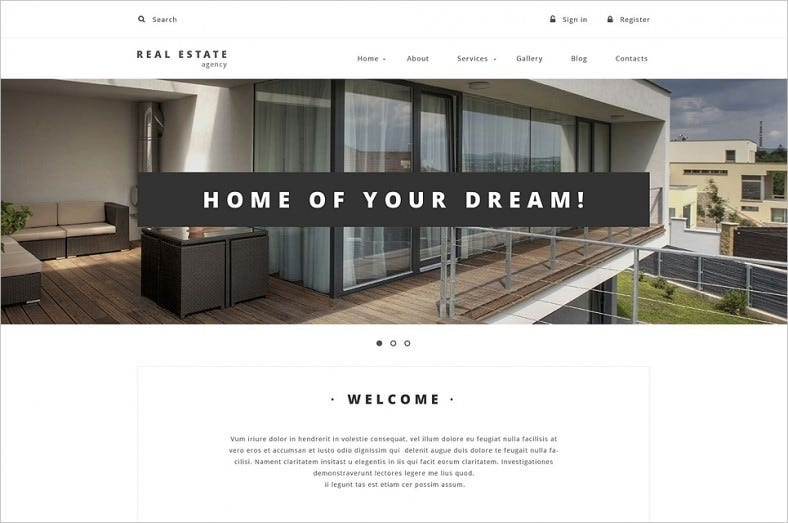fully responsive real estate drupal template