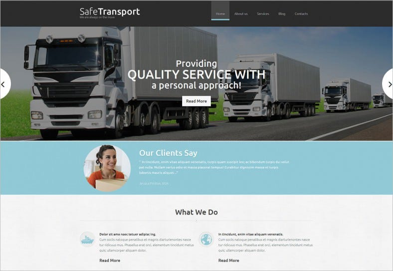 Fully Responsive Transportation Service Joomla Template