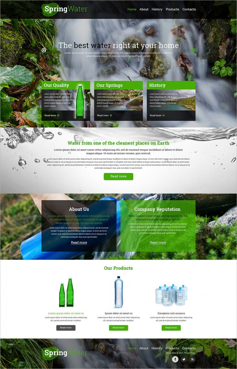 fully responsive water company website template 788x1226