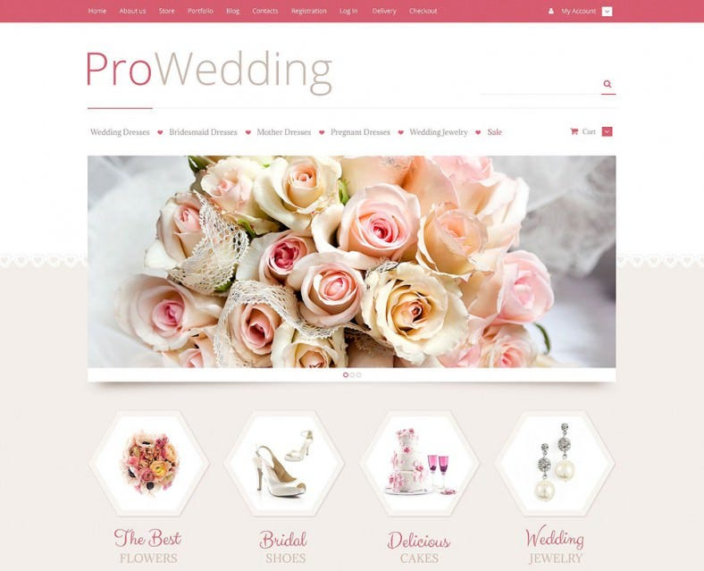 Fully Responsive Wedding Store WooCommerce Template