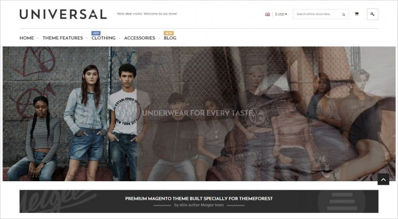 Fully Responsive eCommerce Magento Template