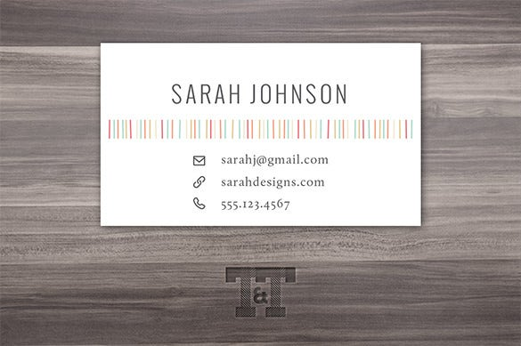 fun sassy lines calling card sample 4