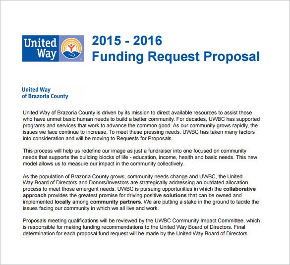 funding request proposal pdf