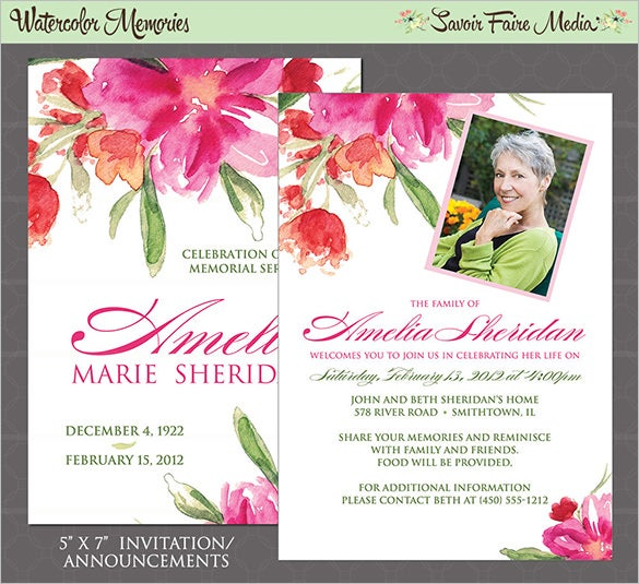 Awesome Funeral Invitation Card Contemporary  Best Resume