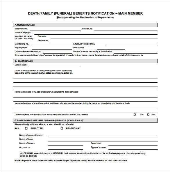 funeral notification pdf download