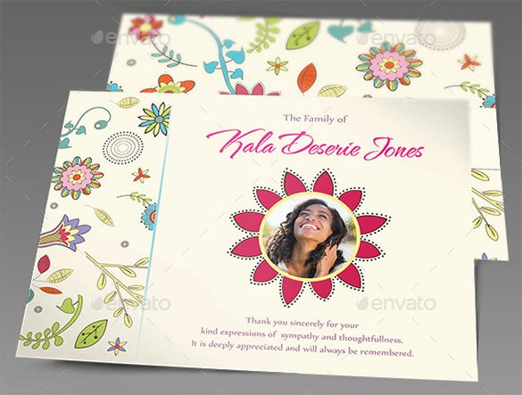 funeral sympathy card psd template