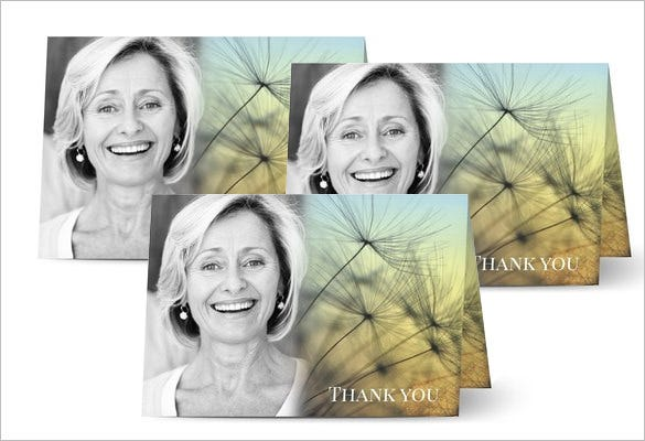 funeral thank you card template free