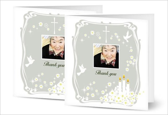 funeral thank you card for grand father mother
