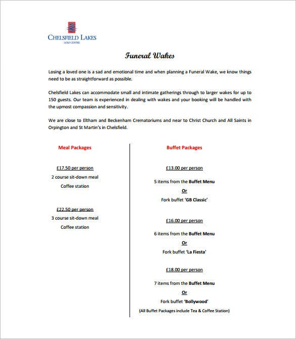 funeral wake notice pdf free download