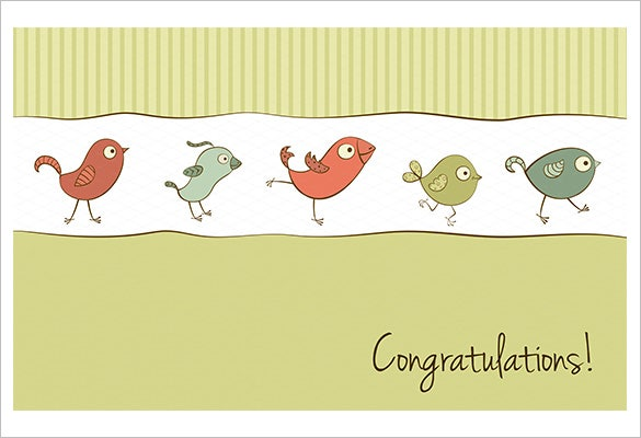 funny birds congratulations card