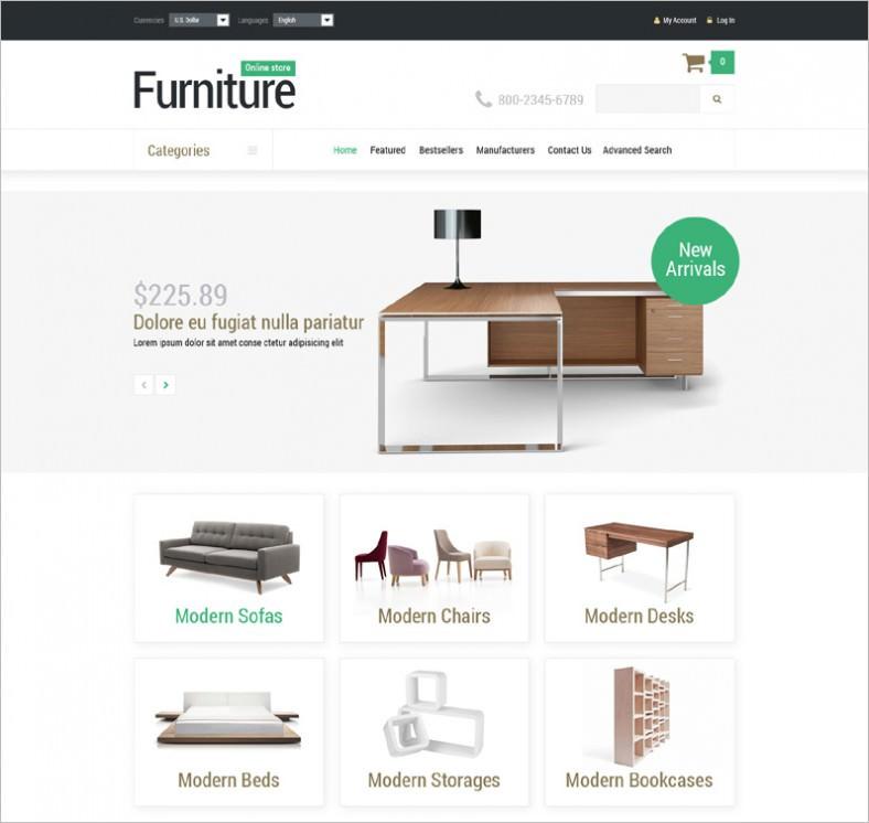furniture manufacture oscommerce template 788x746
