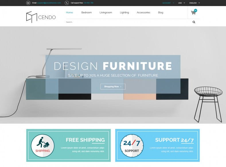 Furniture Store Magento Shopping Cart Template