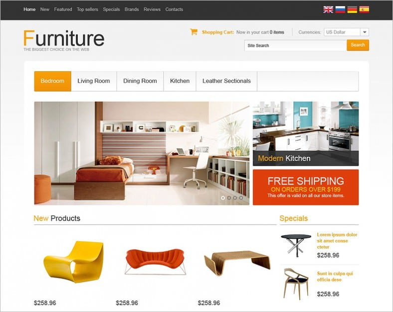 9 furniture oscommerce templates themes free premium free