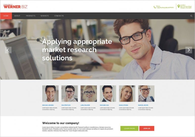 Gallery Integrated Business Website Template
