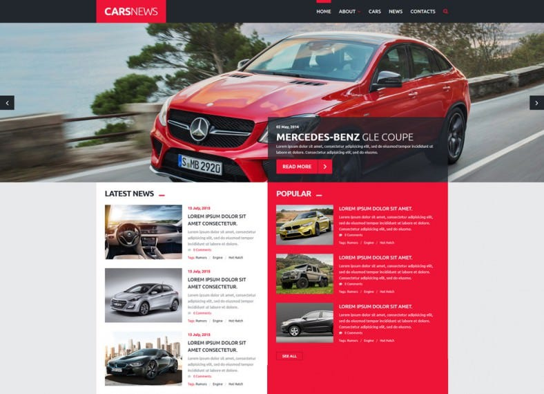 Gallery Plugin Integrated Cars Joomla Template