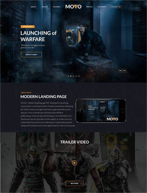 game-landing-page-website-template
