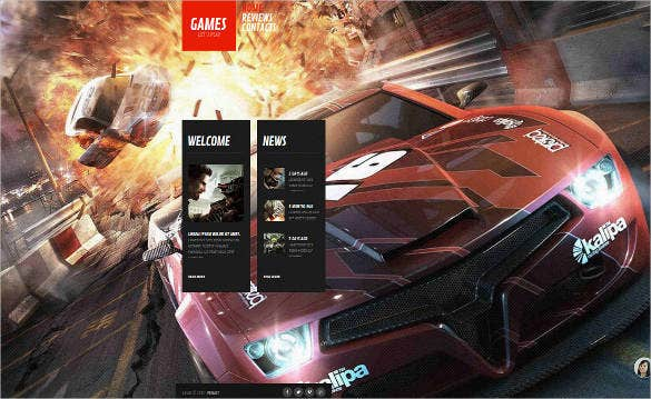 game-news-website-template