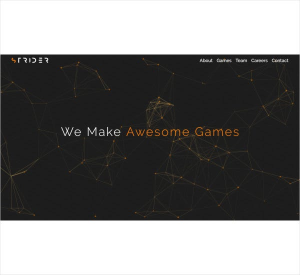 game studio bootstrap template