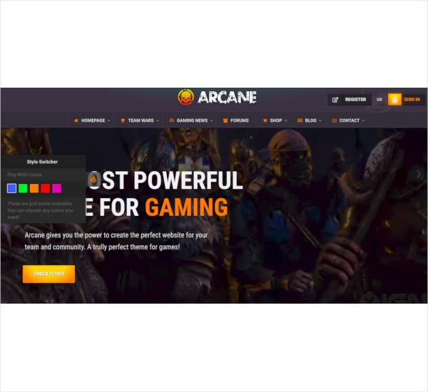 gaming-community-theme