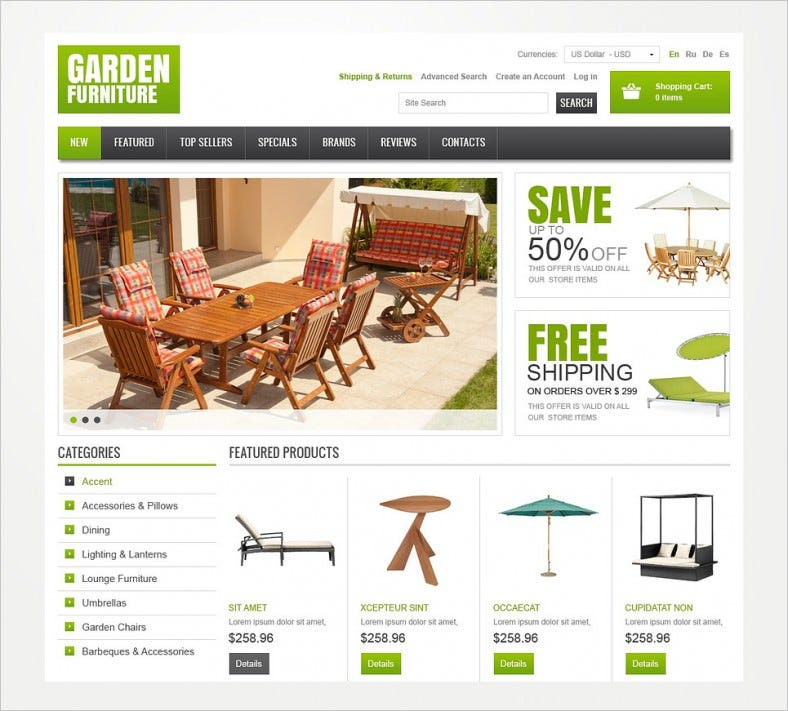 garden furniture oscommerce template 788x711