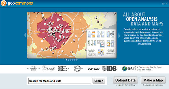 geocommons tools to create infographics