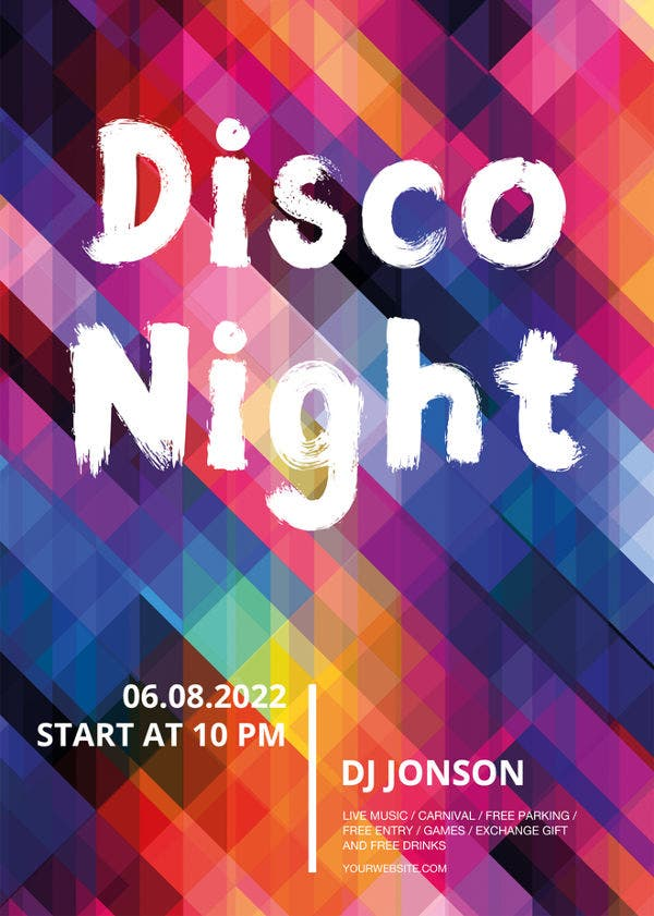 Disco Flyer Templates  Free Psd Eps Ai Indesign Word Pdf