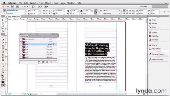 getting started with indesign cs6