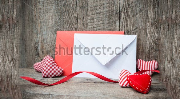 gift card envelope for valentine day