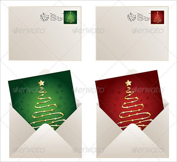gift card envelope for christmas