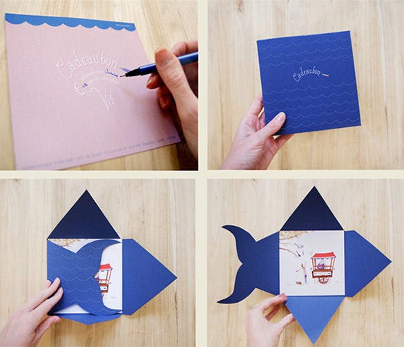 gift card envelope for dutch fish download