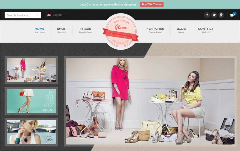 glamo responsive wordpress ecommerce theme 788x496