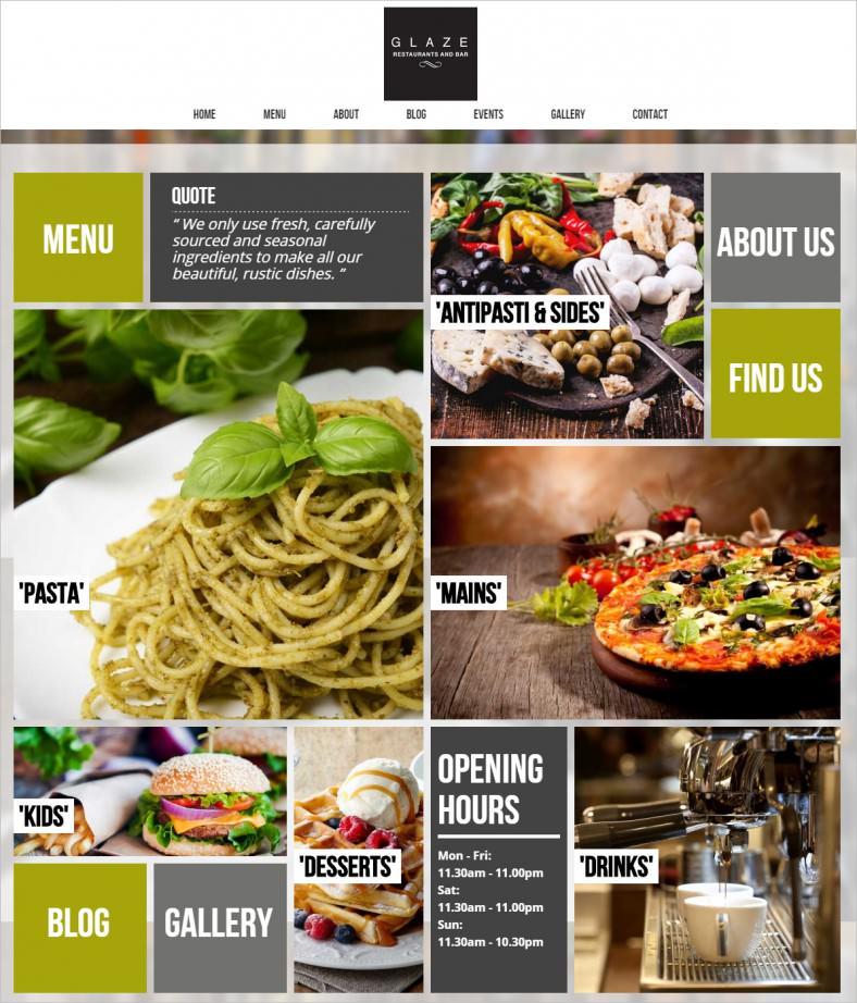 glaze restaurant wordpress theme 788x922