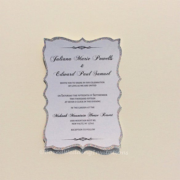 glitter invitation card download