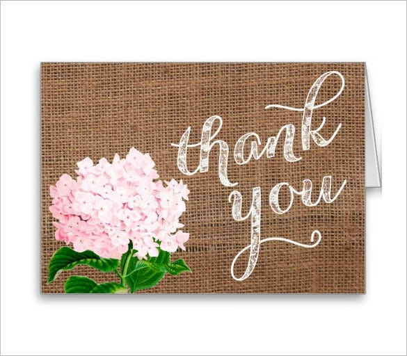 glorious baby shower thank you card