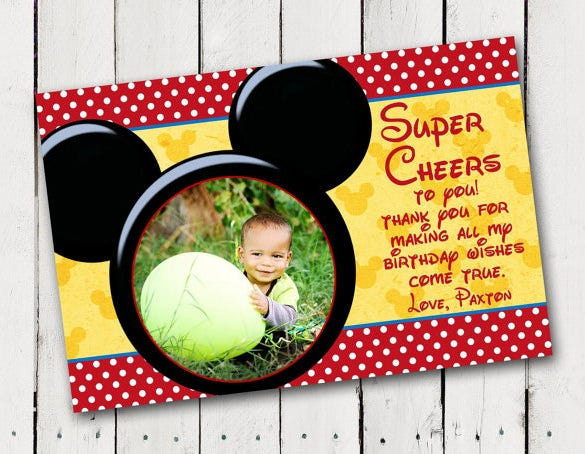 19 Mickey Mouse Thank You Cards Psd Eps Free Premium Templates