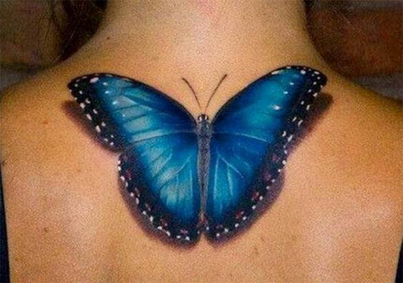 good 3d butterfly tattoo design
