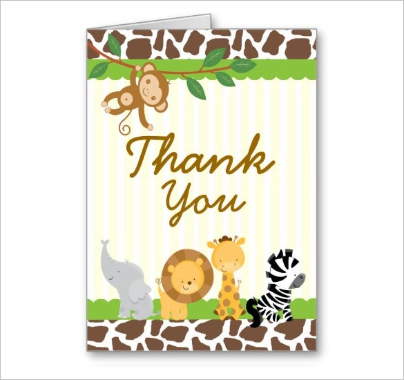 good baby shower thank you card