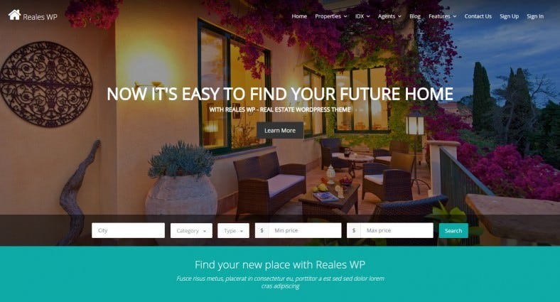 Google Map Integration Real Estate WordPress Theme