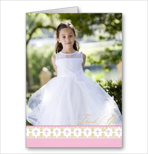 gorgeous christening thank you card