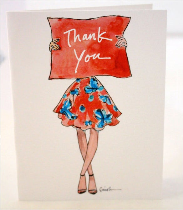 gorgeous fashion thank you card