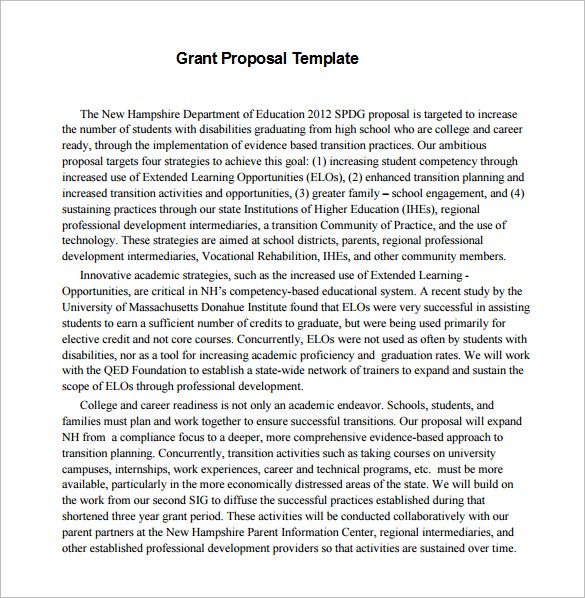 government grant proposal pdf template