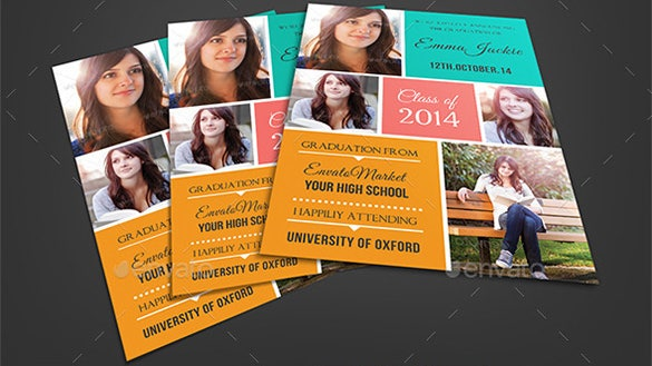 graduation announcement card template