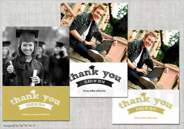 graduation photo thank you card