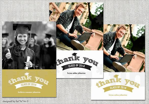 graduation photo thank you card